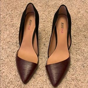 Dark burgundy heels